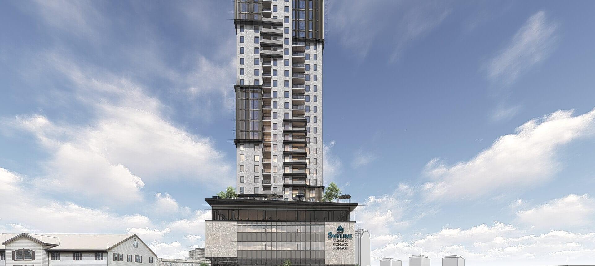 SkyDev building rendering of 70 Fountain Street.