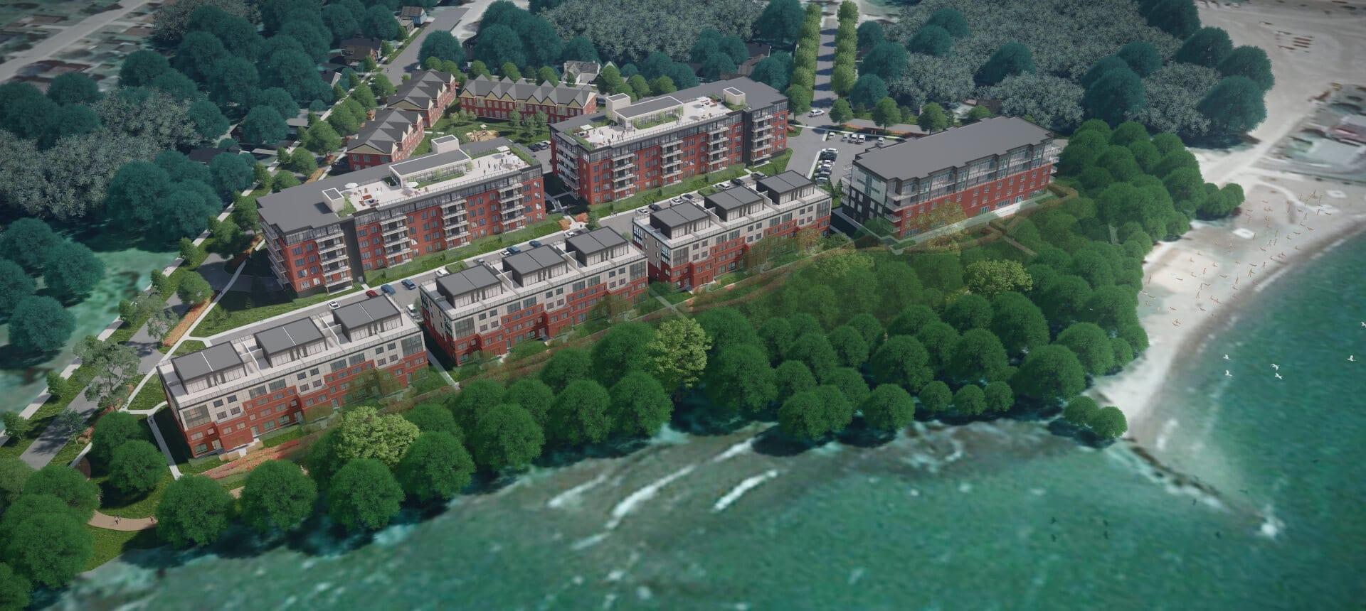 SkyDev Development Meaford - Waterfront Rendering