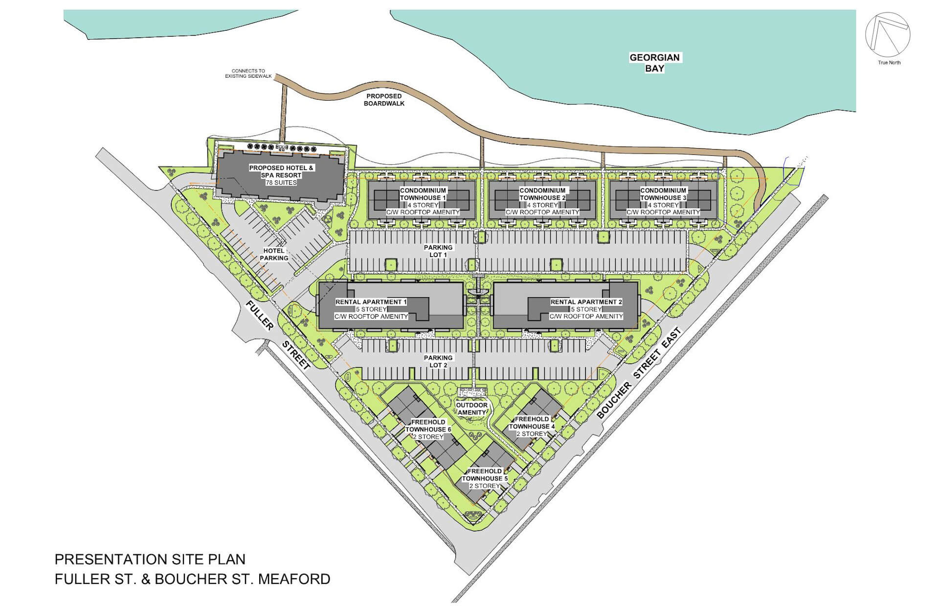 Presentation Site Plan, Fuller St. & Boucher St. Meaford