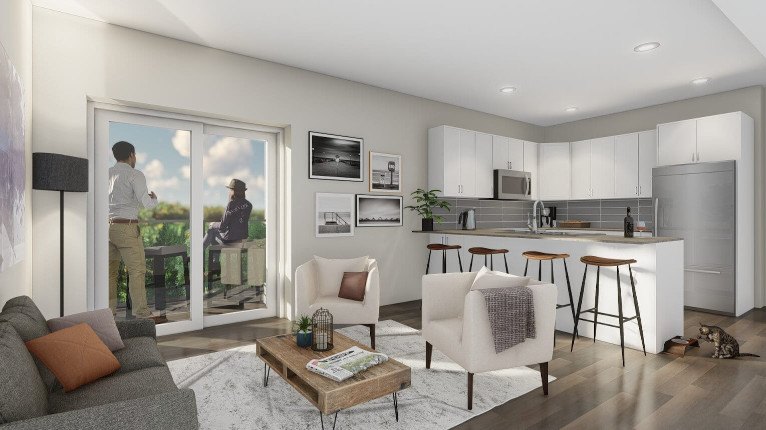 Spacious, open-concept one & two-bedroom suites with modern finishes.