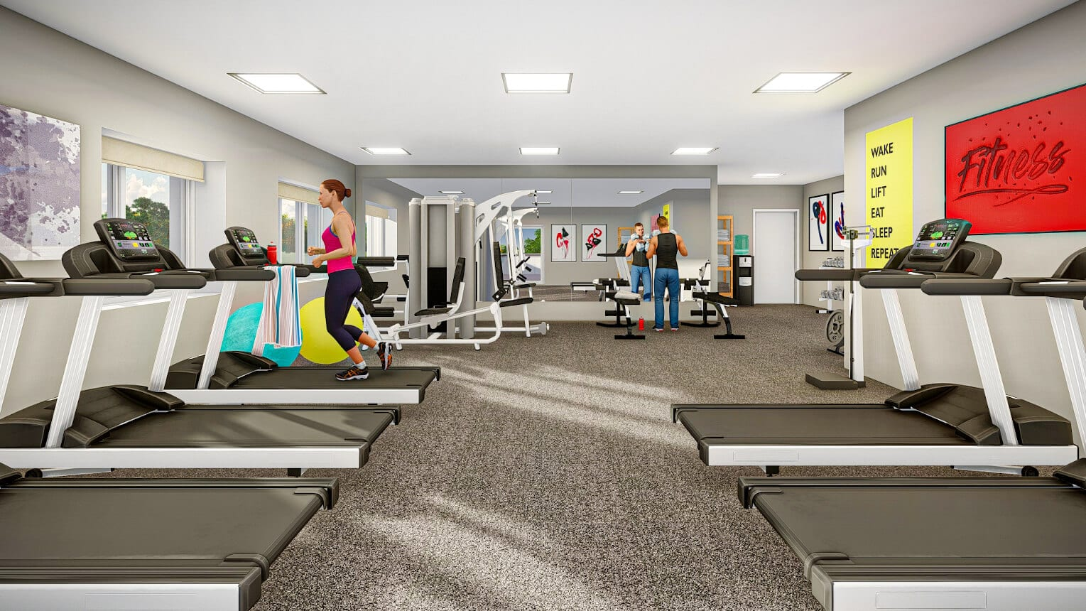 Convenient on-site fitness centre & yoga studio.