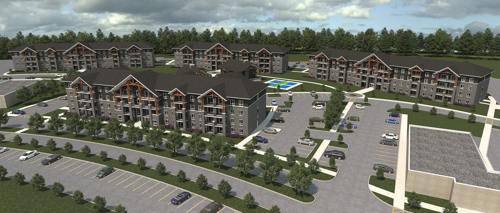 Birds eye rendering of Talisman Place in Gravenhurst, Ontario