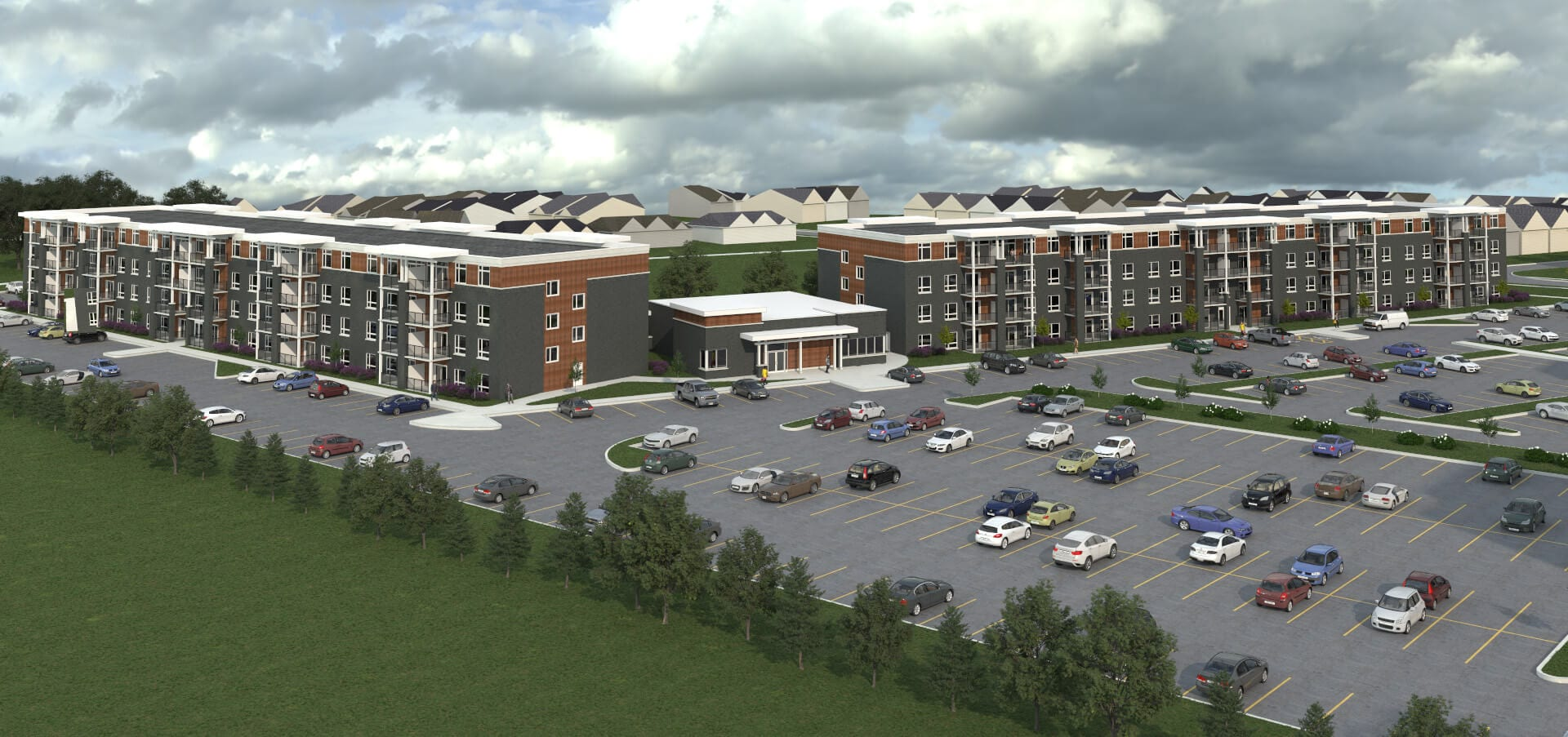 SkyDev - Southfield Park Residences, Tecumseh, Ontario Front Rendering