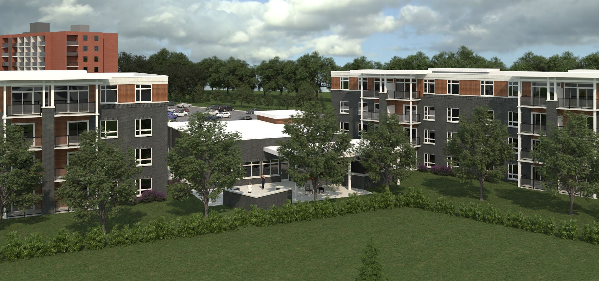 SkyDev - Southfield Park Residences, Tecumseh, Ontario Rear Rendering